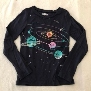 OshKosh space shirt girls size 7